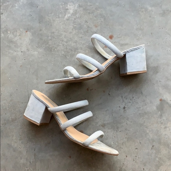 Forever 21 Shoes - Forever 21 Strappy Block Heel Mules Sandals 8.5